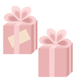 Two pink gift boxes vector