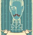 Retro mustache man vector
