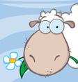 Sheep head cartoon character vector