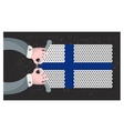 Hand made flag of finland vector