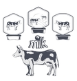 Set of cow labels vector