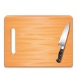 Cutting board and knife isolated vector