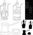 Coffee accessories vector