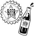 Doodle beer bottle cap vector