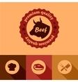 Flat beef design elements vector