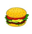 Cartoon hamburger icon vector