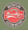 Motorteam brooklyn t-shirt graphic vector