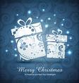 Artistic christmas gift box vector