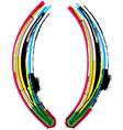 Colorful grunge parenthesis symbol vector