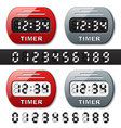 Mechanical counter - countdown timer vector
