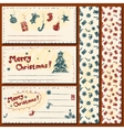 Christmas postcards set vector