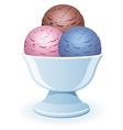Icecream in a bowl vector
