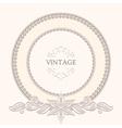 Vintage round frame vector