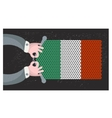 Hand made flag of italy vector