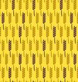 Seamless pattern with wheat harvest autumn vector