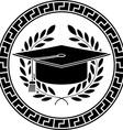 Square academic cap vector