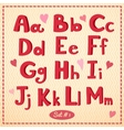 Hand drawn type font in retro style vector