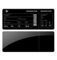 Black boarding card vector