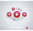 Light web elements buttons switchers player audio vector