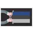Hand made flag of estonia vector