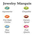 Jewelry marquis isolated objects vector