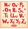 Drawn type font in retro style vector