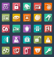 Security icons- flat design vector