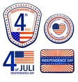 Stamps of independence day eps 10 vector