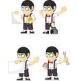 Nerd boy customizable mascot 18 vector
