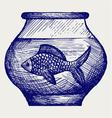 Fish in aquarium vector