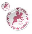 Valentines sticker vector