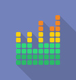 Equalizer icon modern flat style with a long vector