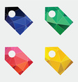 Tag icon abstract triangle vector