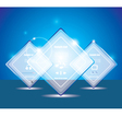 Glass transparent web box vector