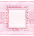 Background of roses and square frame vector