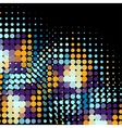 Disco background with halftone dots in retro style vector