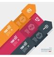 Infographics options banner 1 2 3 vector
