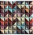 Abstract geometric chevron with relief vector