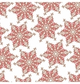 Seamless pattern with decorative snowflakes vector