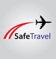 Safe air travel logo vector
