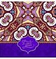 Unusual violet colour floral ornamental template vector