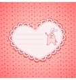 Baby frame on pink background vector