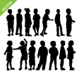 Kids silhouette vector