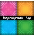 Rays sunburst pattern set of different colors vector