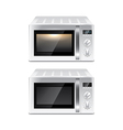 Microwave oven isolated vector