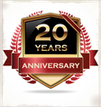 20 years anniversary golden label vector