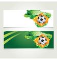 Soccer banner set brazil summer world game vector
