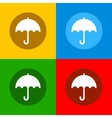 Color umbrella icons set in flat design style vector