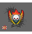 Skull in paintball mask paintball guns wings arms vector