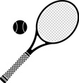 Tennis racket stencil vector